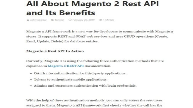 All about magento 2 rest api and its benefits