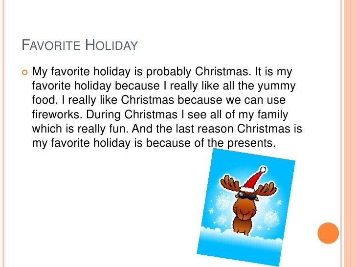Favorite holidays