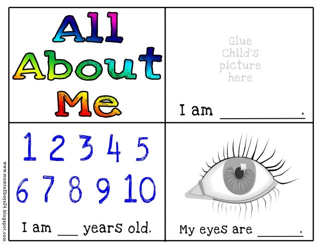 Mesmerizing image pertaining to all about me book preschool printable