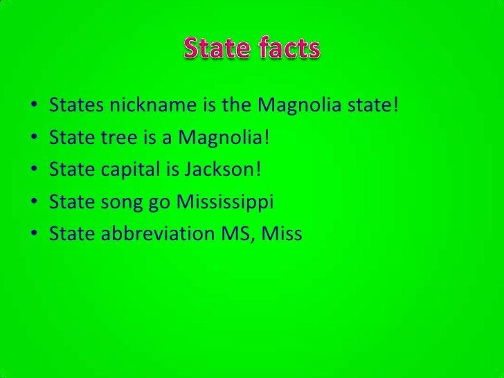 Mississippi State Name Origin, Mississippi Nicknames
