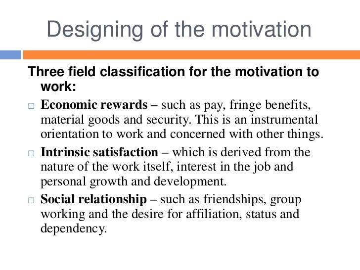 relationship between motivation rewards and job performance