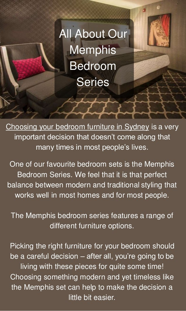 Choosing Memphis Bedroom Furniture is The Best Decision