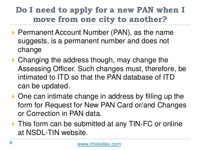 All About Permanent Account Number Pan