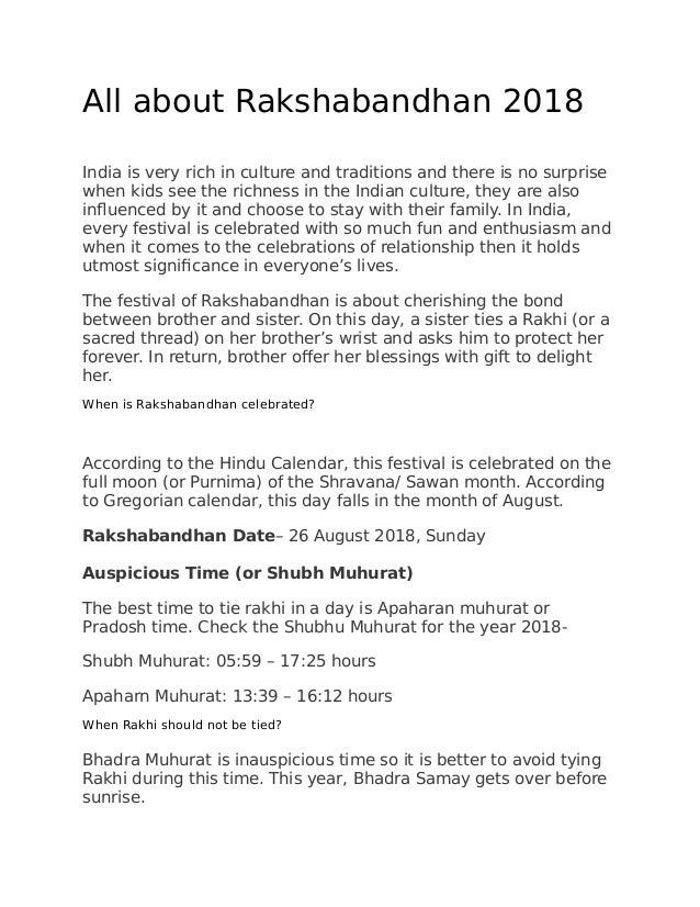 All about rakshabandhan
