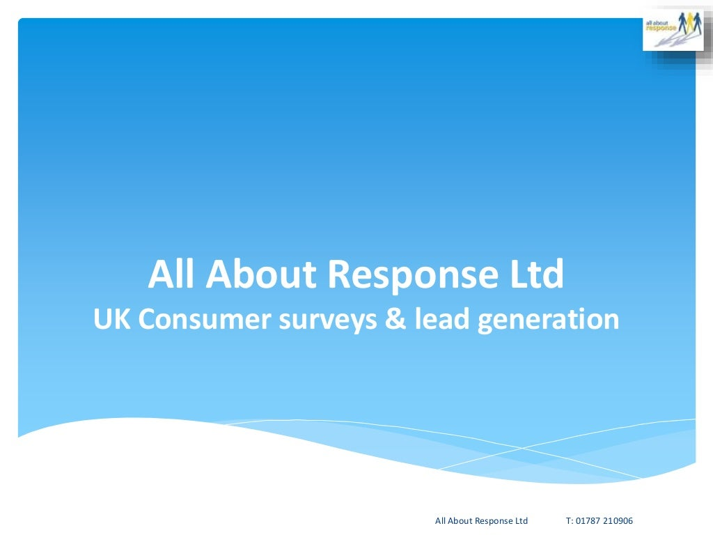 UK Lead generation and data supply through consumer lifestyle surveys from All About Response Ltd