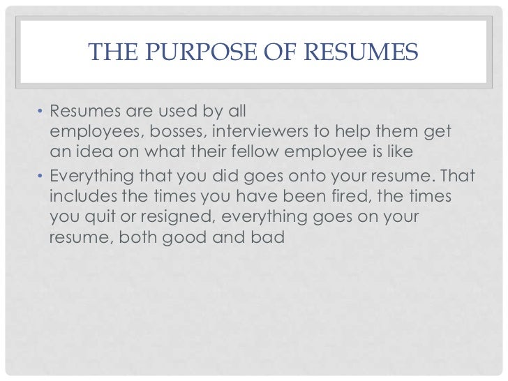 all about resumes
