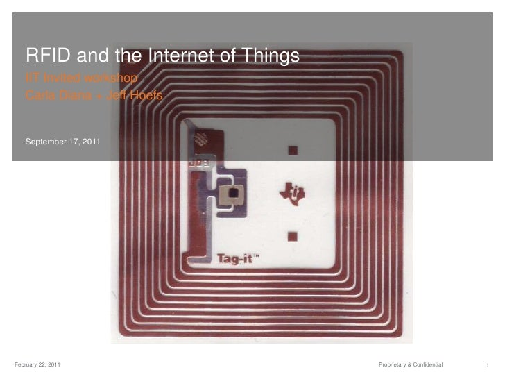 RFID and the Internet of Things<br />IIT Invited workshop<br />Carla Diana + Jeff Hoefs<br />September 17, 2011<br />