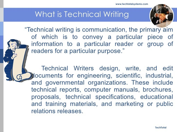 what is the purpose of technical writing Business and technical writing introduction when you write for a business purpose you are writing for a specific audience and a specific reason.