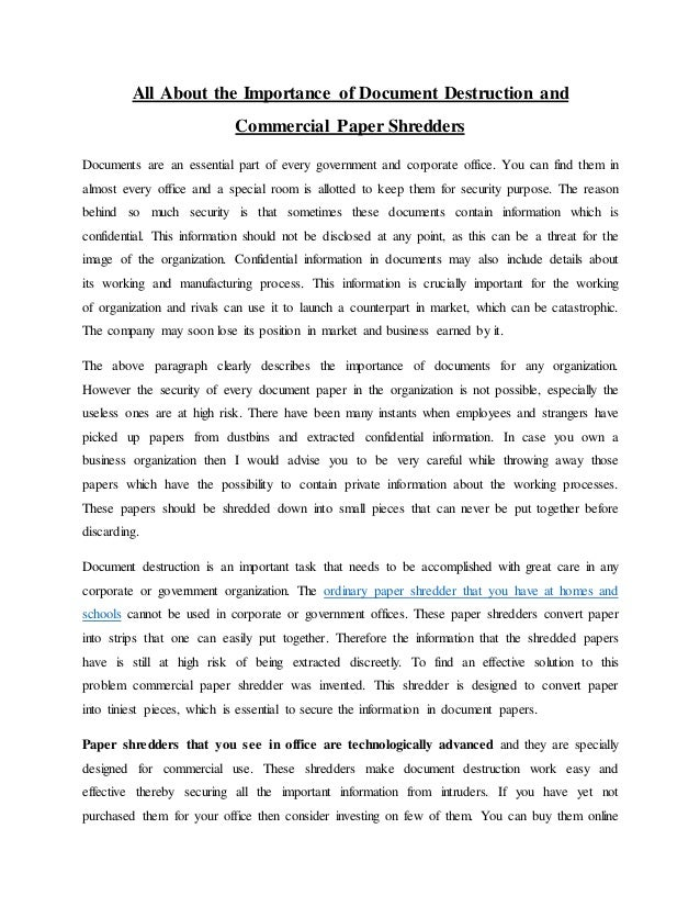 essay on importance of paper