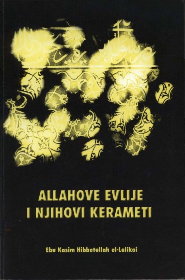 ••••••••••• • • • l • • l • : ·1 . Ebu Kasim ei-Lalikaija =.• • • Allahove lit : evliie i = 6 niihovi �. ; kerameti ; • • ...