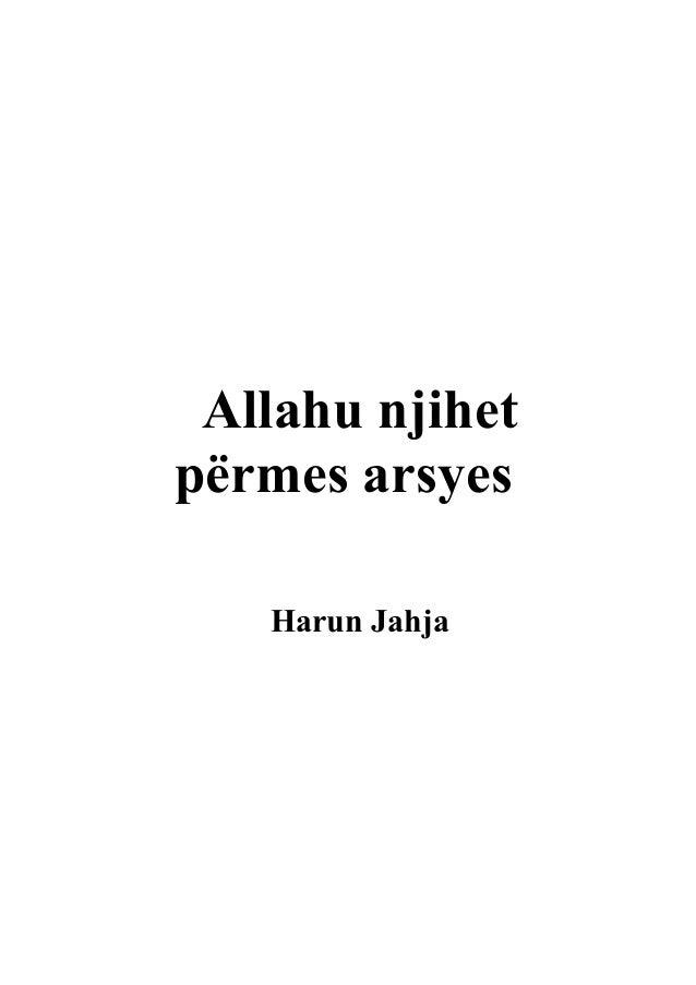Allahu njihet përmes arsyes Harun Jahja