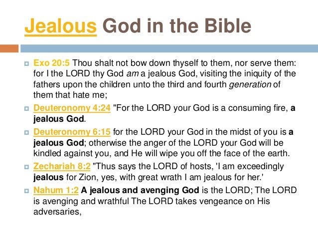Human Jealousy in the bible  Genesis 4:5-6 but for Cain and for his offering He had no regard So Cain became very angry a...