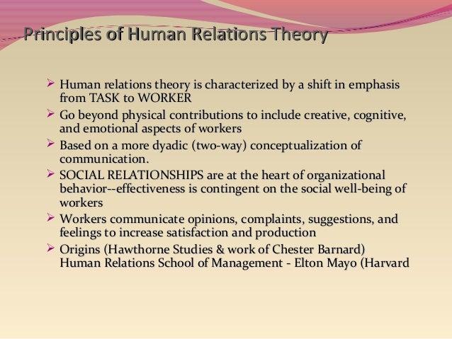 Human relation model
