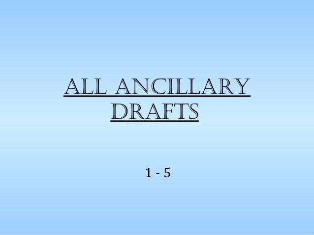 All AncillArydrAfts1 - 5