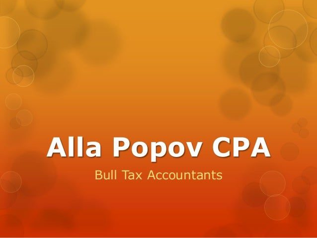 Alla Popov CPA Bull Tax Accountants