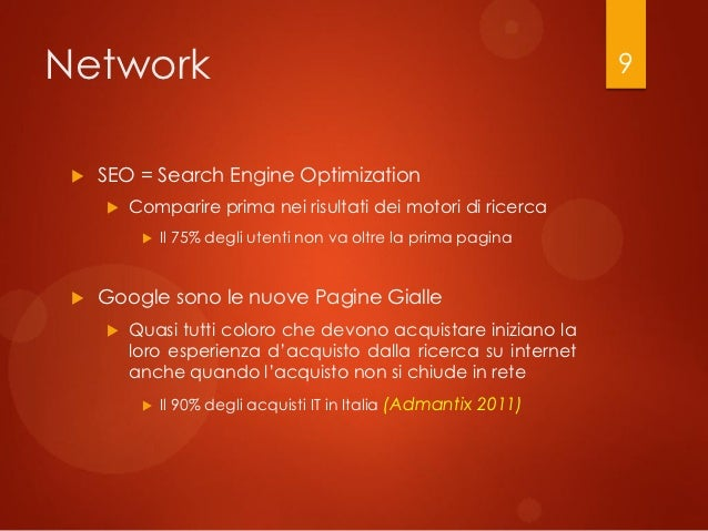 Network                                                            9    SEO = Search Engine Optimization        Comparir...