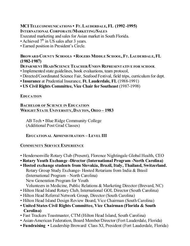 Florence Allbaugh CV