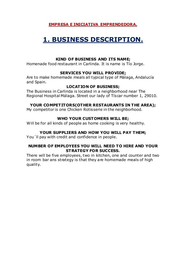 ALL BUSINESS DESCRIPTIONS 2SR 2015