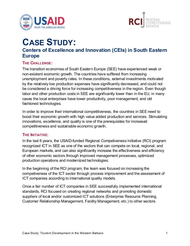 CASE STUDY:Centers of Excellence and Innovation (CEIs) in...