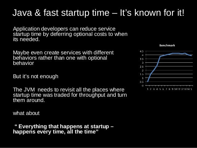 Java & fast startup time – It's known for it! Application developers can reduce service startup time by deferring optional...