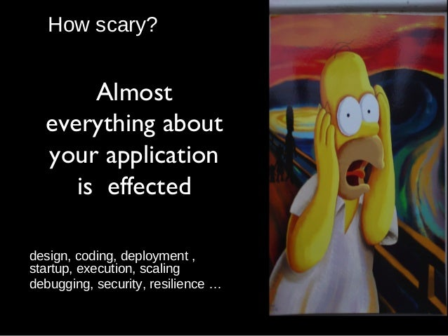 How scary? design, coding, deployment , startup, execution, scaling debugging, security, resilience … Almost everything ab...