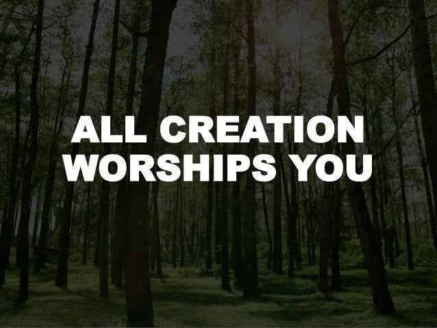 ALL CREATION WORSHIPS YOU