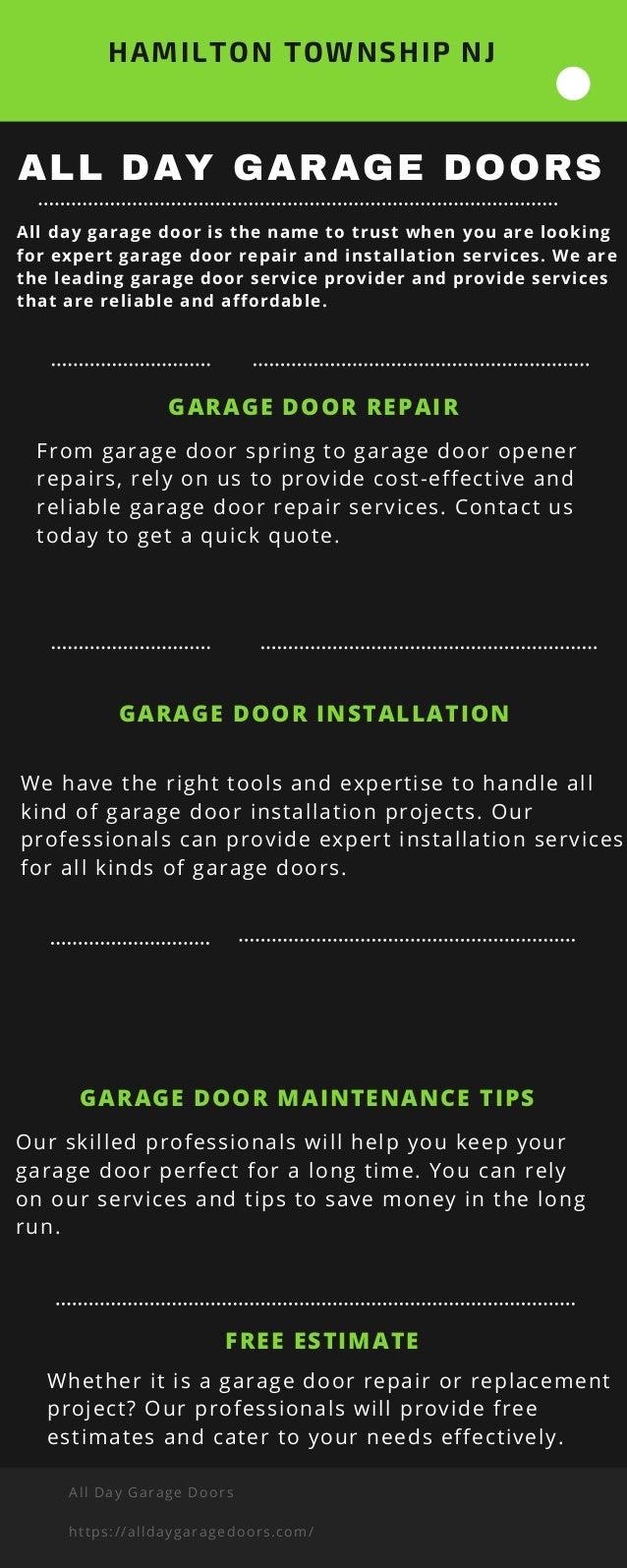 All Day Garage Doors Hamilton Township Nj