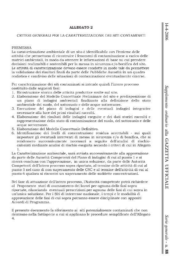 14-4-2006 Supplemento ordinario alla GAZZETTA UFFICIALE Serie generale - n. 88