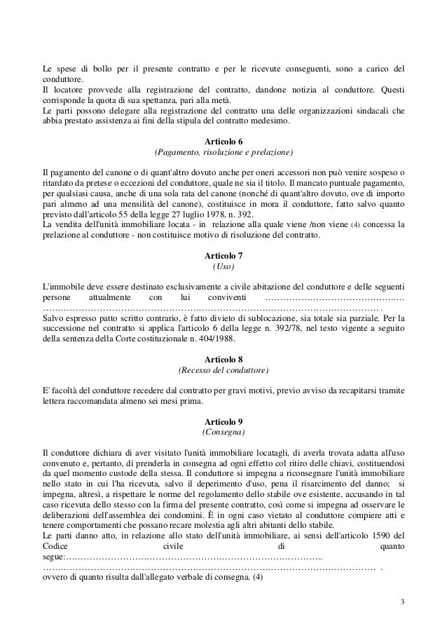 Disdetta Contratto Affitto Locatore. Le Clausole Segrete Che Non ...