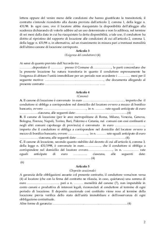 Contratto di locazione transitorio concordato a formia for Contratto di locazione ad uso abitativo di natura transitoria