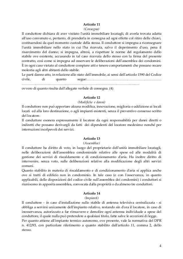 contratto di locazione transitorio concordato a formia