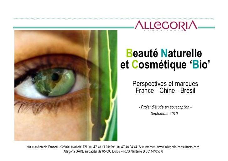 Beauté Naturelle                                                                       et Cosmétique 'Bio'                ...