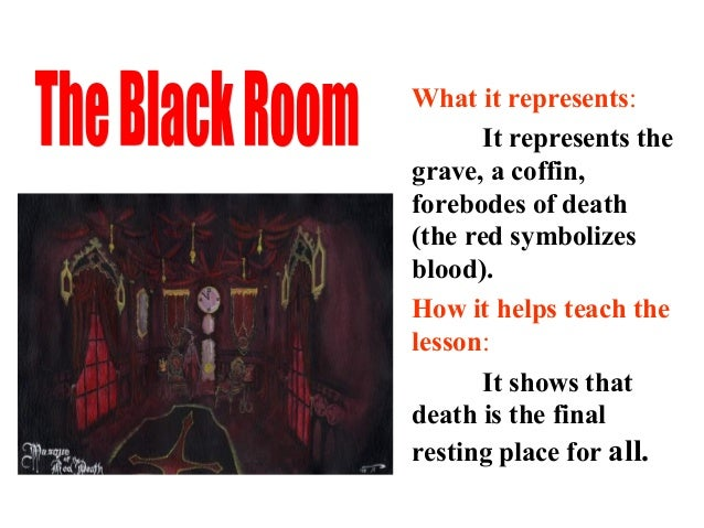 a literary analysis and a summary of the red death The second main point should be an analysis later he wrote the two instructions on literary and art work during the period of the red army.