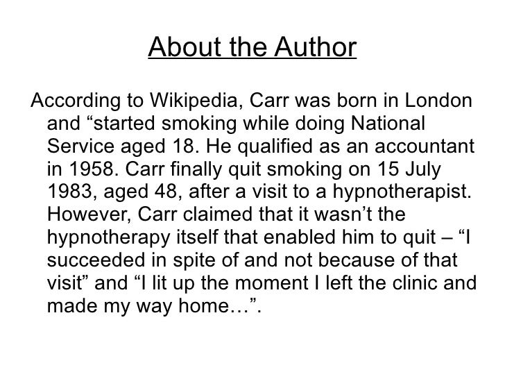 how to quit smoking allen carr pdf