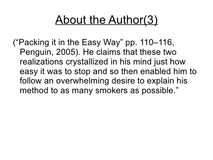 allen carr stop smoking book pdf