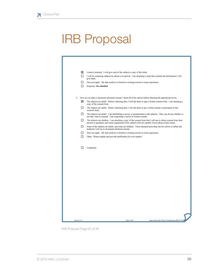 Irb proposal