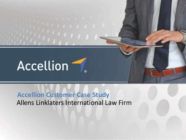 Accellion Customer Case StudyAllens Linklaters International Law Firm