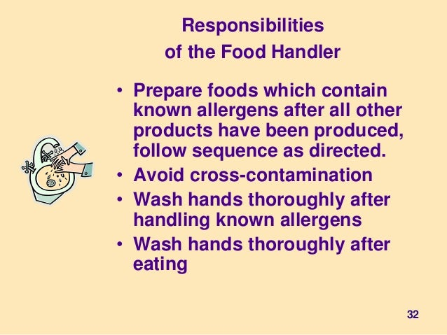 Illness Food Safety Handlers Have To Advise Of