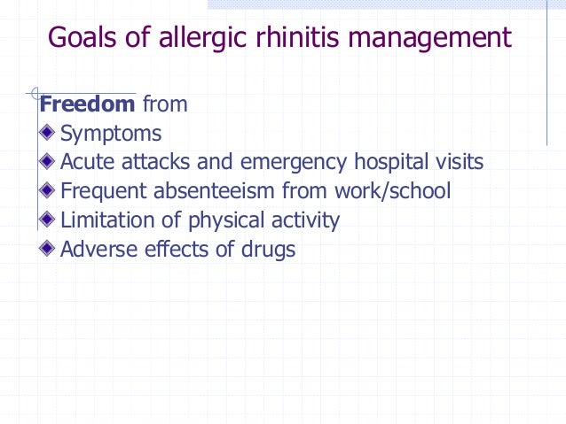 TABLE-PHARMACOLOGIC OPTIONS FOR RHINITIS: EFFECTS ON SYMPTOMS Agent  Sneezing  Itching  Congestion  Rhinorrhea  Eye Sympto...