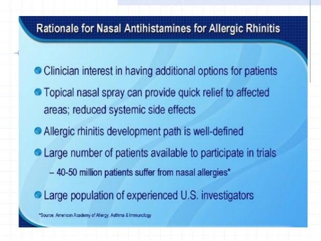Rationality of using combined Montelukast and Levocetirizine as Treatment for Allergic Rhinitis Antihistamines are effecti...
