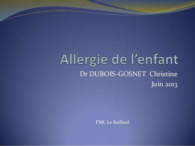 Dr DUBOIS-GOSNET ChristineJuin 2013FMC Le Bailleul
