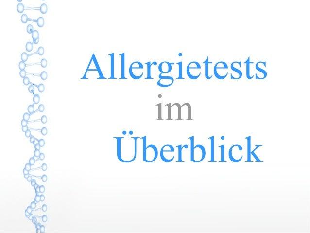Allergietests im Überblick