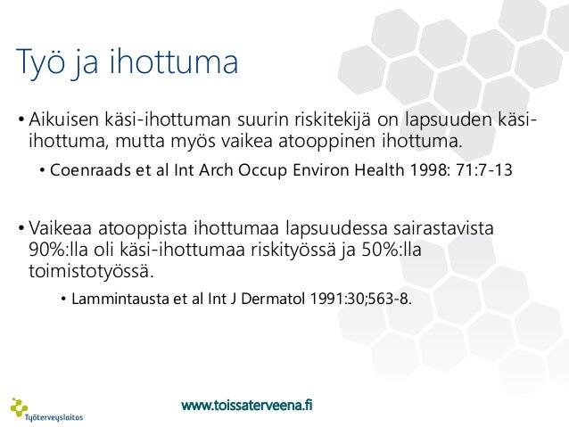 Allergiset sairaudet ja ammatinvalinta, Sari Wuolijoki, TTL