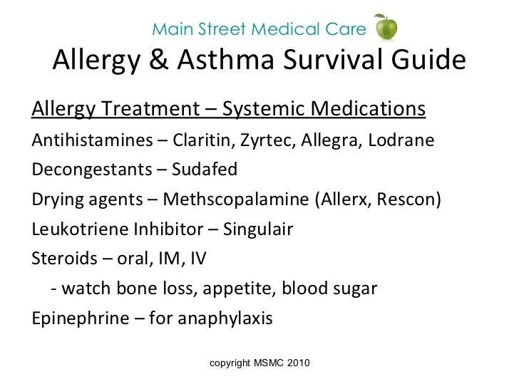 Allergy & Asthma Prevention- Main Street Medical Care