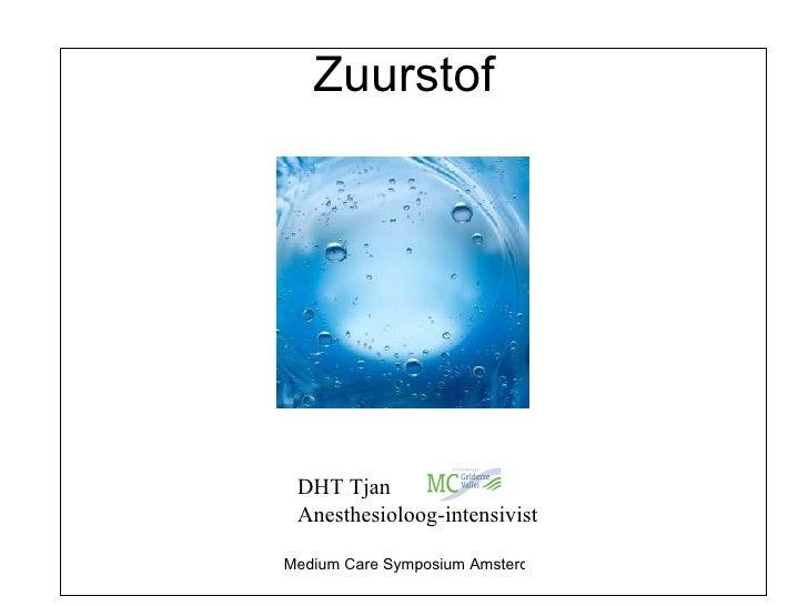 Zuurstof DHT Tjan Anesthesioloog-intensivist