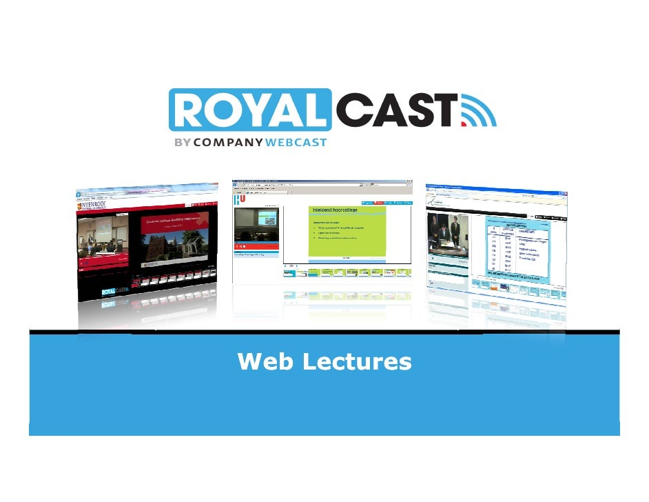 Web Lectures