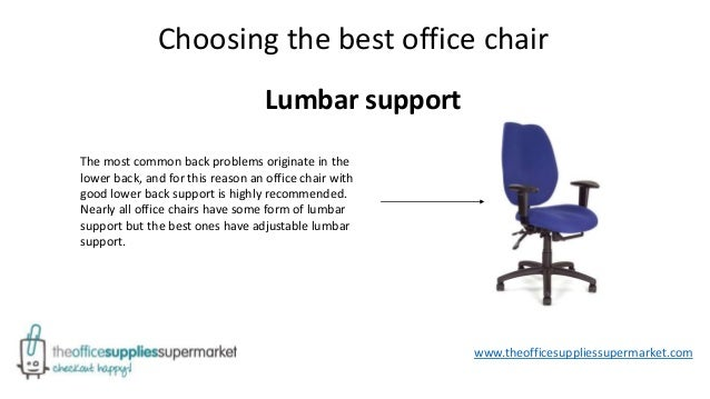 How To Alleviate Back Pain With A Good Office Chair