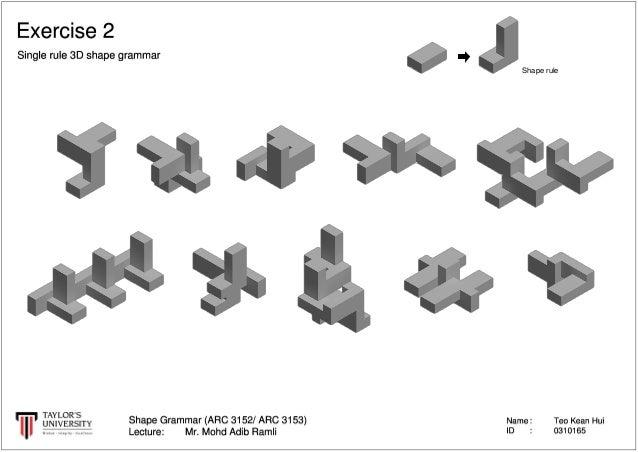 shape grammar all exercises. Black Bedroom Furniture Sets. Home Design Ideas