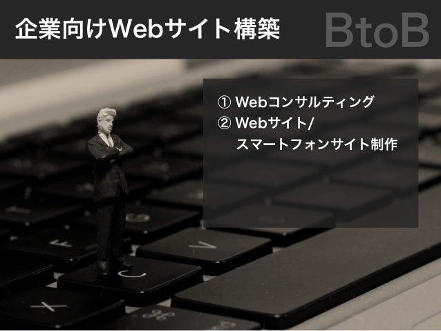 ① ソーシャルメディア運営 ② iPhone/Android/ ソーシャルアプリ提供 ③ その他Webサービスの 企画・提供・運営 BtoC消費者向けWebサービス事業
