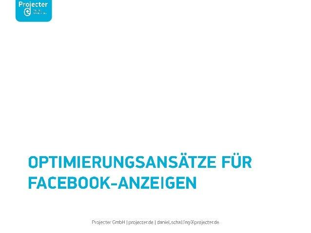 Facebook Ads für Onlineshops: zielorientierte Anzeigenschaltung und –Auswertung @AllFacebook Marketing Conference